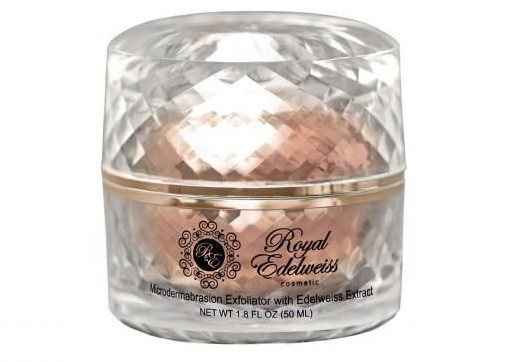 ROYAL EDELWEISS ROSE GOLD MICRODERMABRASION  EXFOLIATOR W/ EDELWEISS EXTRACT  (1.8OZ)