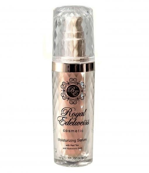 ROYAL EDELWEISS ROSE GOLD MOISTURIZING SERUM W/ RED TEA & HYALURONIC ACID (1OZ)
